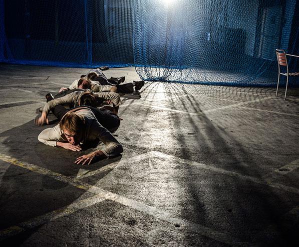 ANNA SEHGERS: TRANSIT  Eine theatrale Erkundung 2017 HALLE - der Raum für die Künste  Lattich / St. Gallen, Regie: Katja Langenbach